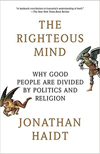 the righteous mind jonathan haidt book cover