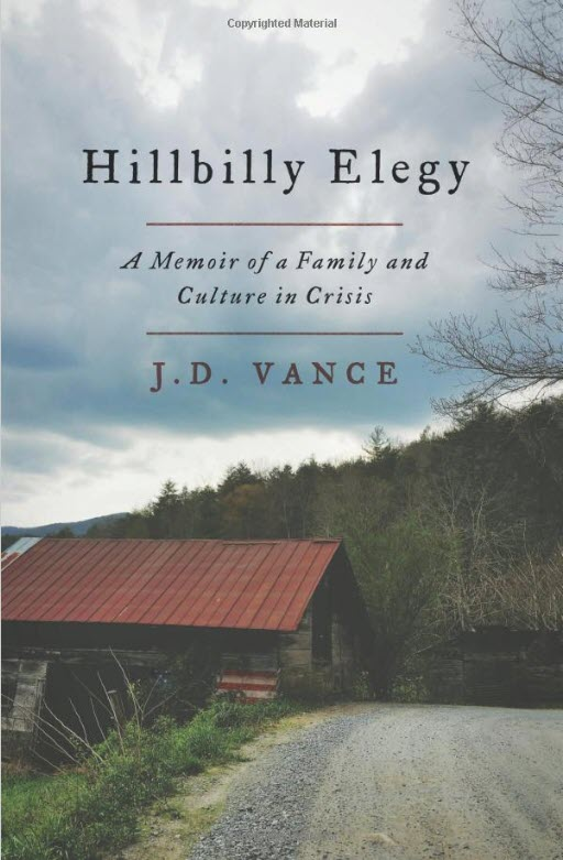 hillbilly elegy book cover j.d. vance