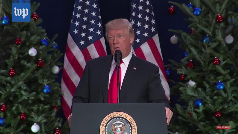 Trump gives speech on Nov. 30.