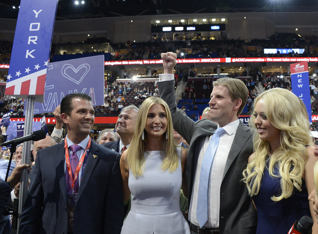 ivanka don jr eric trump mandatory training charity