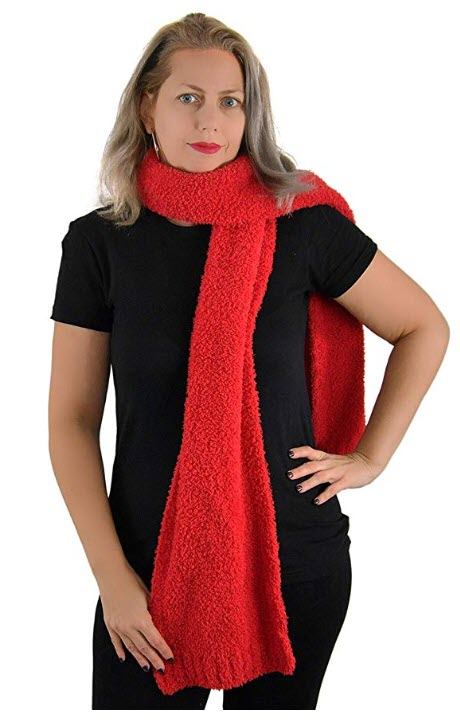 barefoot dreams red scarf