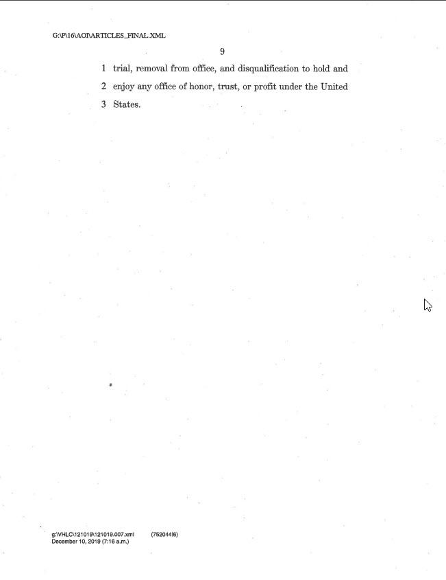 articles of impeachment 9