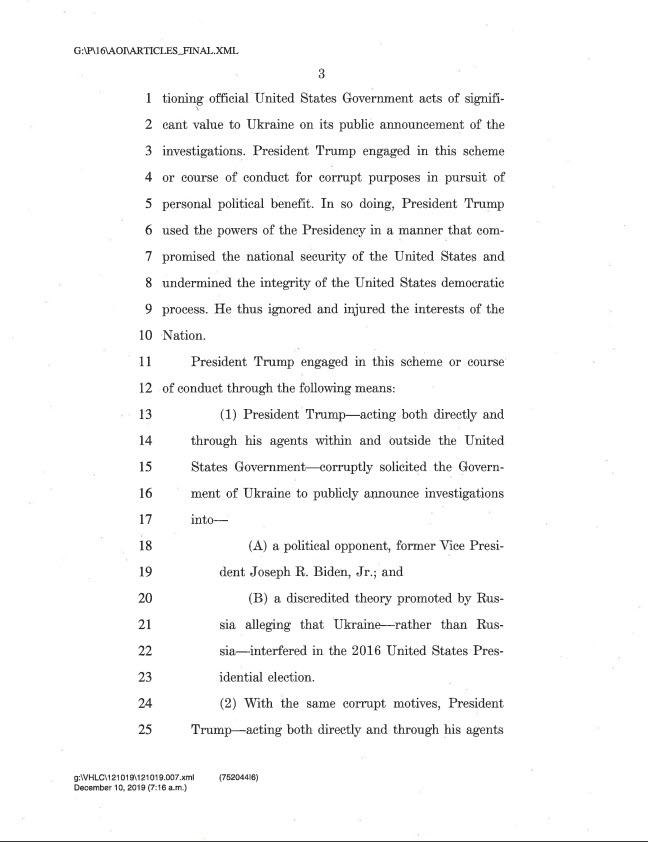 Articles of impeachment 3