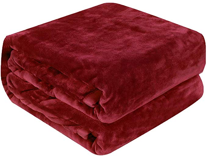 qbedding luxury red blanket