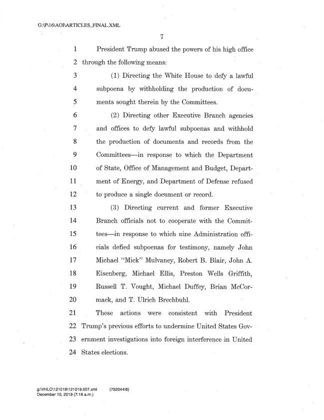 articles of impeachment 7