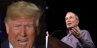 Mike Bloomberg and Donald Trump compilation photo