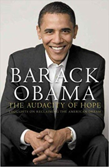 Barack Obama Audacity of Hope book cover