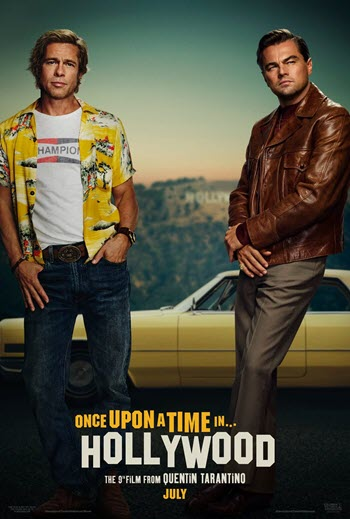 Once Upon a Time in Hollywood movie cover Brad Pitt