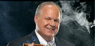 Rush Limbaugh smoking a cigar announces lung cancer diagnosis